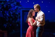 """Bridges of Madison County"" adapted by Marsha Norman and Jason Robert Brown from Robert James Waller, at Center Theatre Group in Los Angeles in 2016. Pictured: Elizabeth Stanley and Andrew Samonsky. (Photo by Matthew Murphy)"